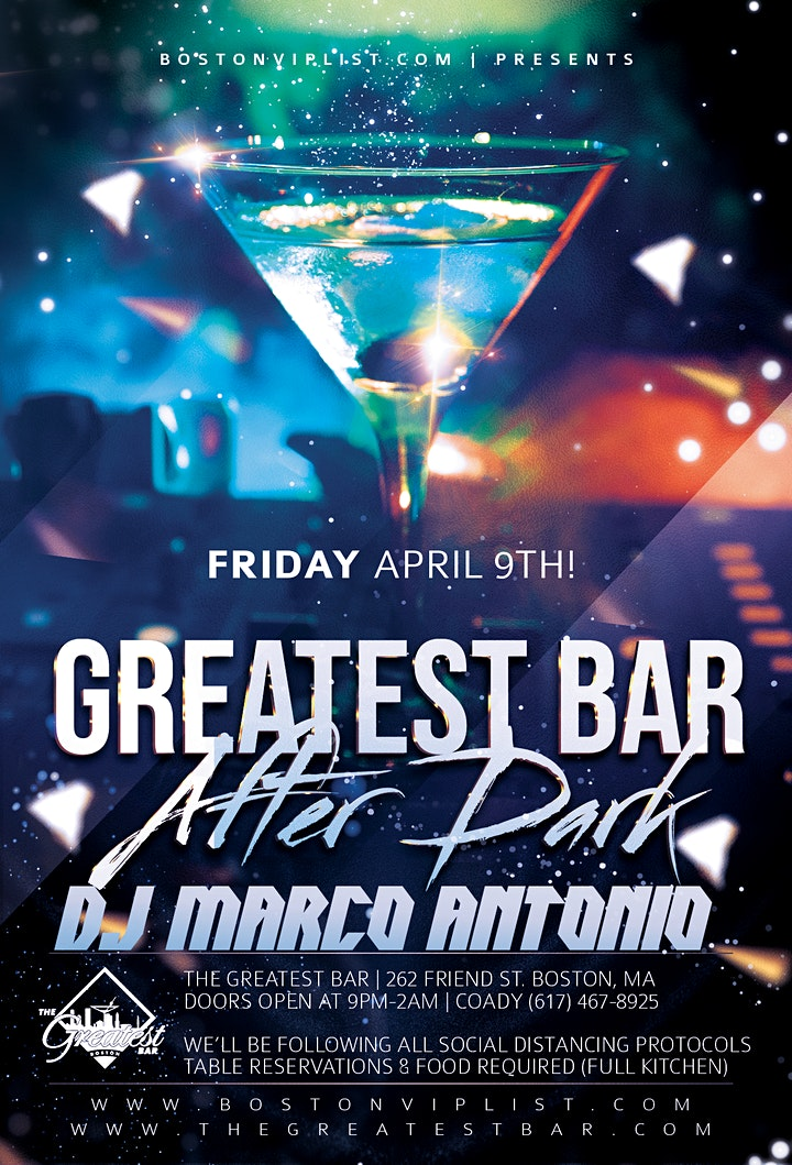 DJ Marco Antonio |  FRIDAY @ GREATEST BAR image