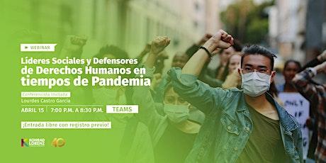 Webinar: Líderes Sociales y Defensores de Derechos Humanos ingressos