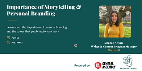 Importance of Storytelling & Personal Branding tickets