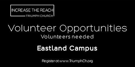TRIUMPH CHURCH EASTLAND CAMPUS - MINISTRY VOLUNTEERS (APRIL 11, 2021) tickets