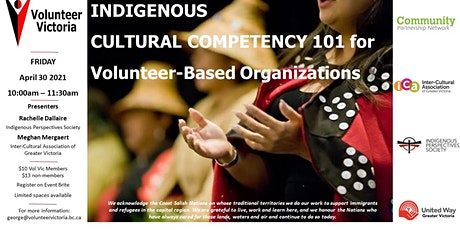 Indigenous Cultural Competency 101 For Volunteer Based Organizations tickets