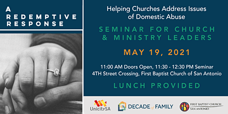 A Redemptive Response: Helping Churches Address Issues of Domestic Violence tickets