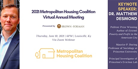 2021 Metropolitan Housing Coalition Virtual Annual Meeting tickets