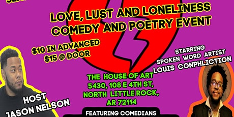 Focus on the Funny LLC  Love, Lust and Loneliness Comedy and Poetry Event tickets