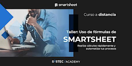 Taller de uso de fórmulas de Smartsheet entradas