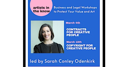 RESCHEDULED - Copyright for Creatives with Sarah Conley Odenkirk tickets
