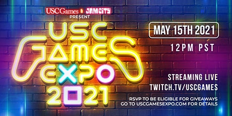 USC Games Expo 2021 - Streaming LIVE Online, 12PM PST May 15th, 2021! biglietti