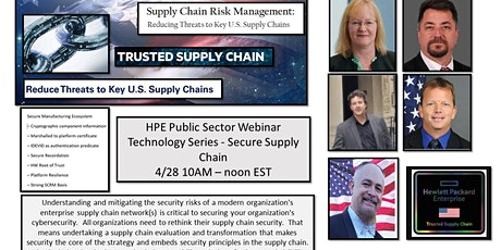 HPE Public Sector Webinar Technology Series-Secure Supply Chain/Cyber tickets