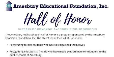 Amesbury Educational Foundation, Inc. 18th Hall of Honor Celebration tickets