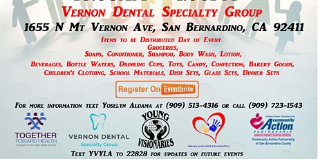 Vernon Dental Specialty Group  Pull Up and Pick Up Family Support Day tickets