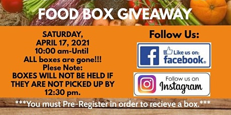 April Food Box Giveaway tickets