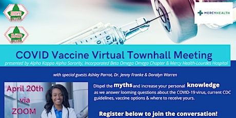 COVID Vaccine Virtual Townhall Meeting presented by AKA & Mercy Health tickets