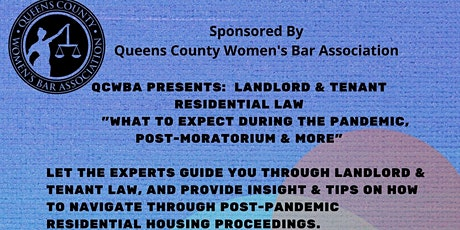 LANDLORD & TENANT LAW - WHAT YOU SHOULD KNOW POST MORATORIUM & MORE tickets