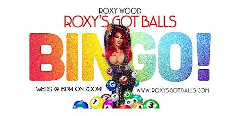 """""""Roxy's Got Balls!"""" Virtual Drag Queen (Purple) BINGO w/ Roxy Wood! tickets"""