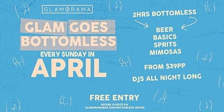 Glam Goes Bottomless in April tickets