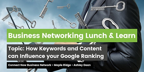 Business Networking: How Keywords and Content Influence your Google Ranking tickets