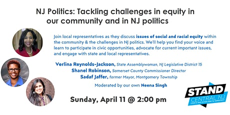 NJ Politics 101: Tackling challenges in equity in NJ politics tickets