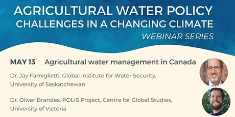 Agricultural Water Policy: Management in Canada tickets
