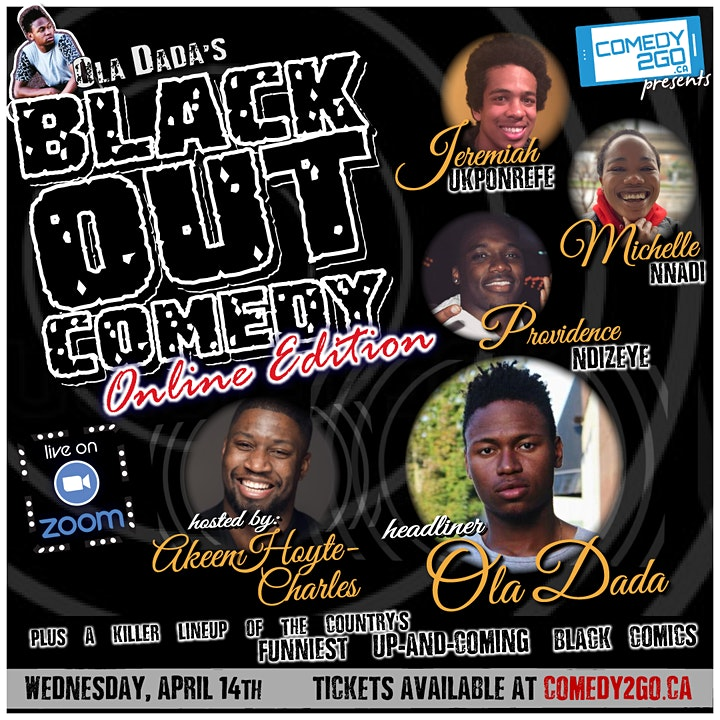 Comedy2Go presents: Ola Dada's Black Out Comedy image
