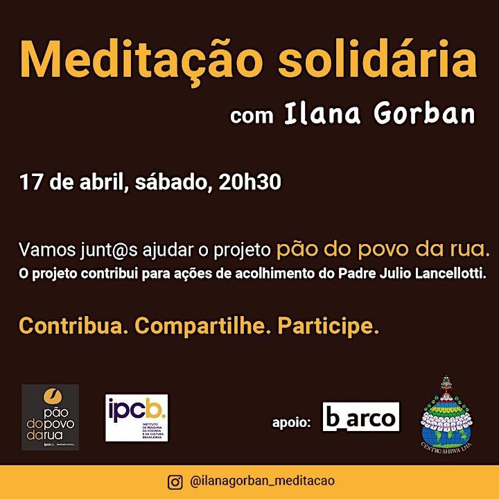 Imagem do evento Meditação Solidária com Ilana Gorban
