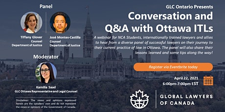 Conversation and Q&A with Ottawa ITLs tickets
