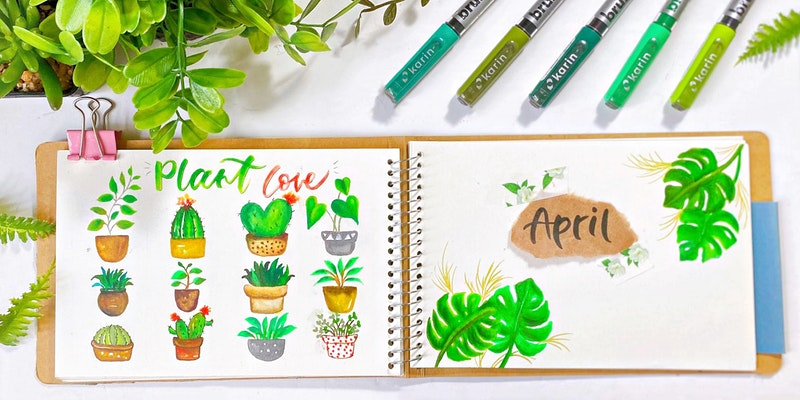 Plant Painting with Karin Brushmarkers Workshop
