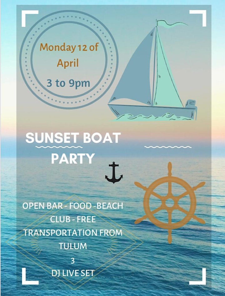 Sunset Boat Party image