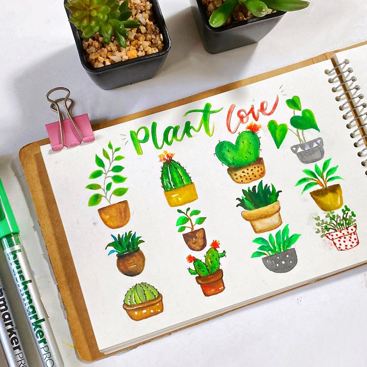 Plant Painting with Karin Brushmarkers Workshop image