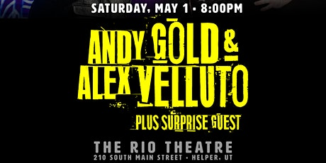 Andy Gold and Alex Velluto at the Rio Theatre tickets