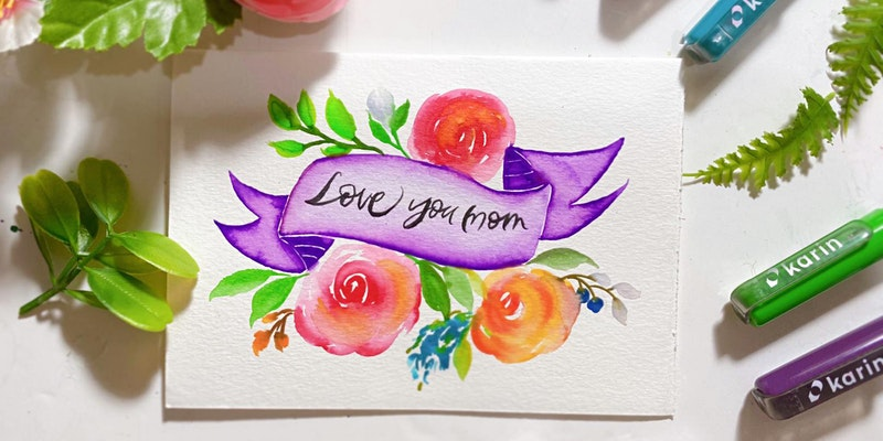 Mother's Day Floral Card Making with Karin Brushmarkers Workshop