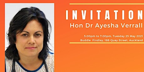 An Evening with Hon Dr Ayesha Verrall tickets