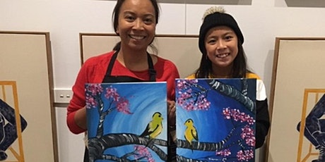 Paint and Sip Class: Happy Mother's Day (Pair-up Painting) tickets