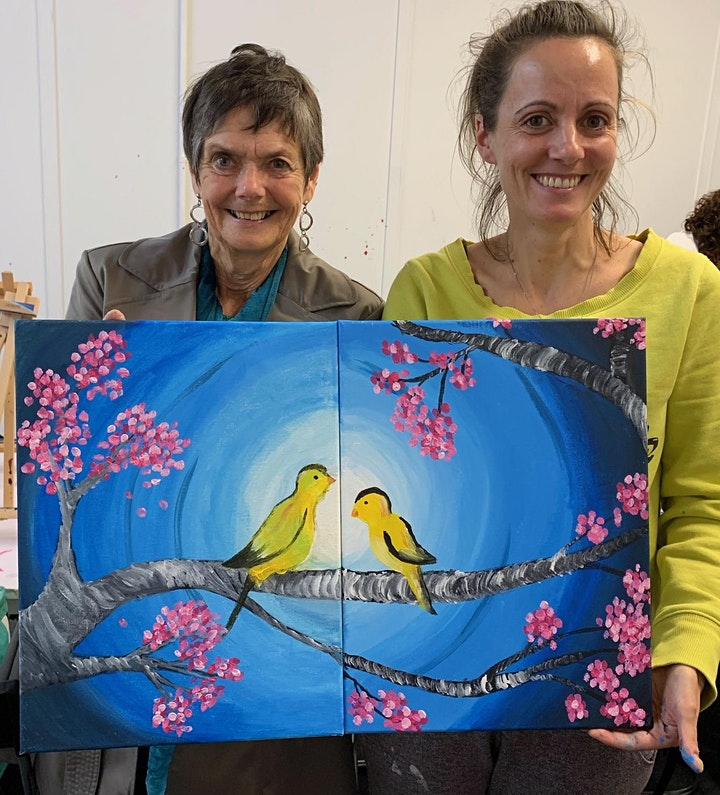 Paint and Sip Class: Happy Mother's Day (Pair-up Painting) image