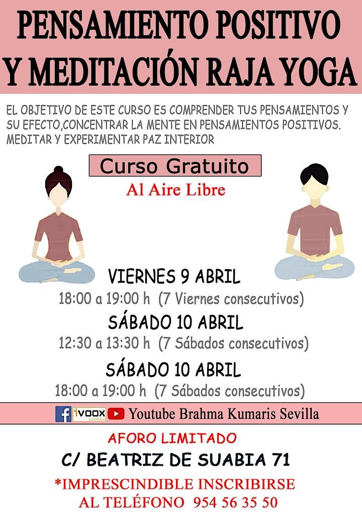 Imagen de Curso Pensamiento Positivo y Meditación Raja Yoga