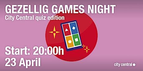 Gezellig Online Games Night: quiz edition tickets