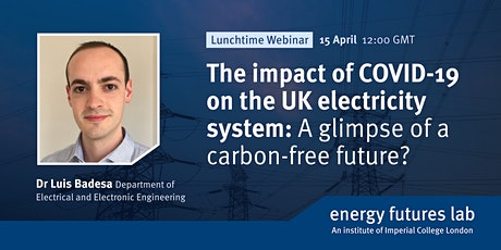 Webinar: The impact of COVID-19 on the UK electricity system tickets