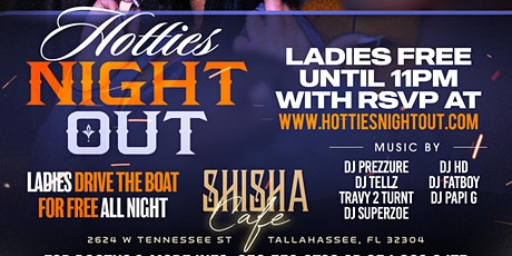 HOTTIES NIGHT OUT • SATURDAY APRIL 24TH • CAFE SHISHA tickets
