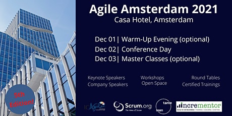 Agile Amsterdam | Conference and optional Master Classes tickets
