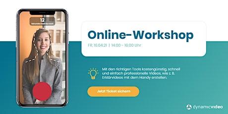 Smartphone-Videos schnell und einfach erstellen für Unternehmen Tickets