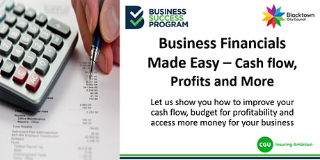 Business Financials Made Easy - Cash flow, Profits and More tickets