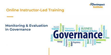 Training on Monitoring and Evaluation in Governance tickets