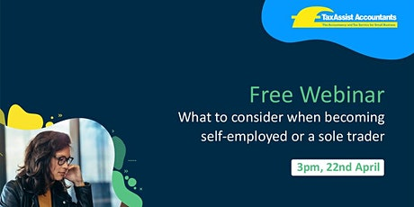 What to consider when becoming self-employed or a sole trader tickets