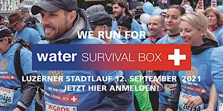 We Run For Water Survival Box 2021 - am Luzerner Stadtlauf 12.09.2021 billets
