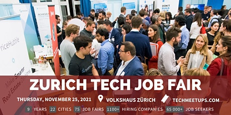 Zurich Tech Job Fair  by Techmeetups tickets