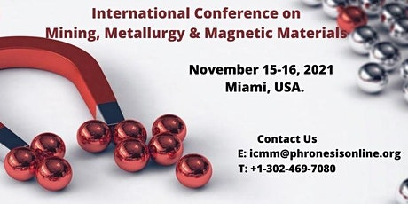 International Conference on Mining, Metallurgy & Magnetic Materials tickets