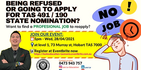 Being refused  or  Going to apply  for TAS 491/190 state nomination? tickets