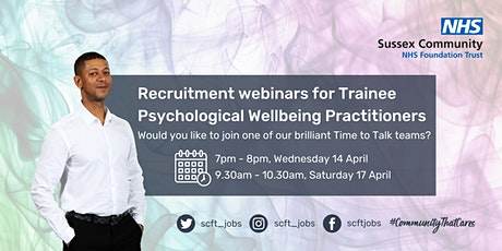 Become a Trainee Psychological Wellbeing Practitioner tickets