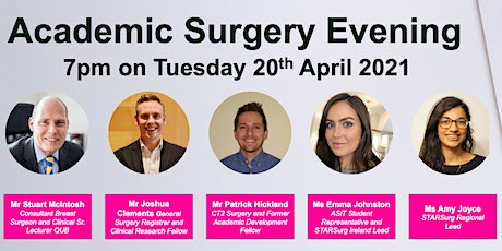Queens University Belfast x STARSurg x ASiT Academic Surgery Evening tickets