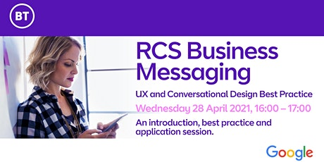 RCS Business Messaging: UX and Conversational Design Best Practice tickets
