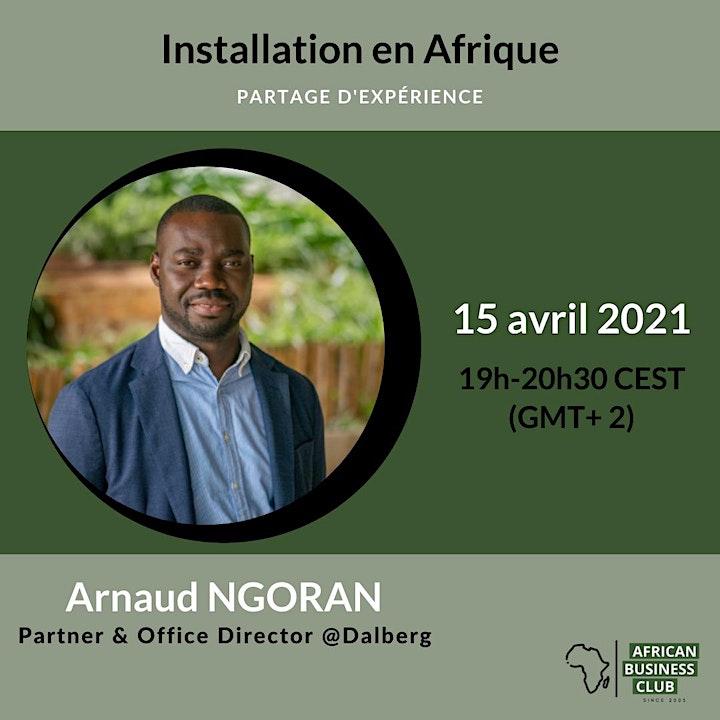 Image pour Installation en Afrique : Partage d'expérience avec Arnaud N'Goran
